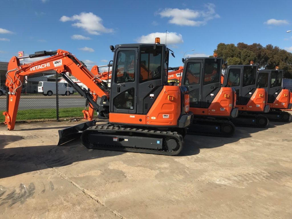 Hitachi excavators