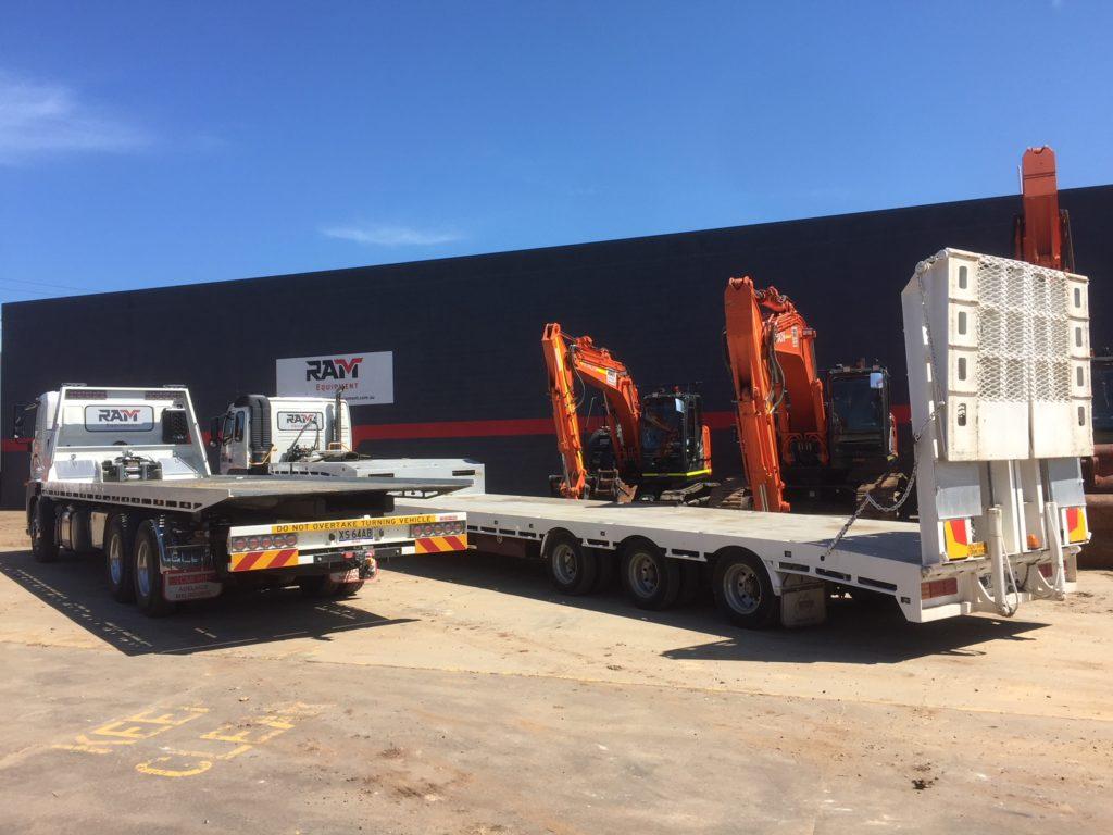 RAM equipment trucks.