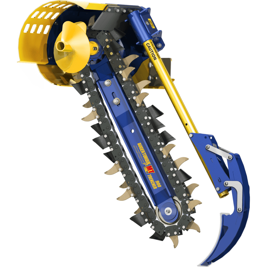 Auger Torque Trencher xhd900 on white background