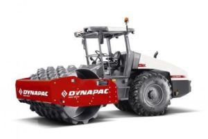 Dynapac 12 Tonne Padfoot Drum Roller CA3500PD On white background
