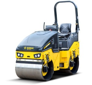 Bomag Double Drum Roller on white background BW100 ADM-5