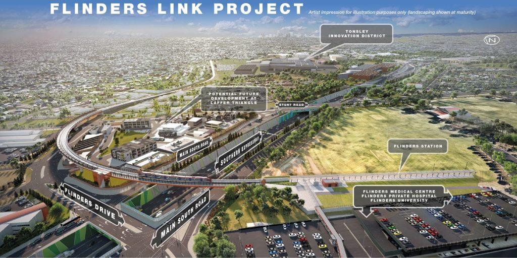 flinders link project render image