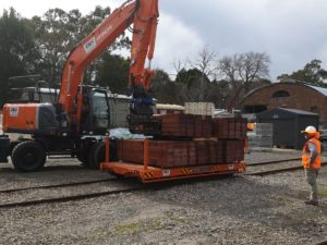 Hitachi Hi-Rail Excavator