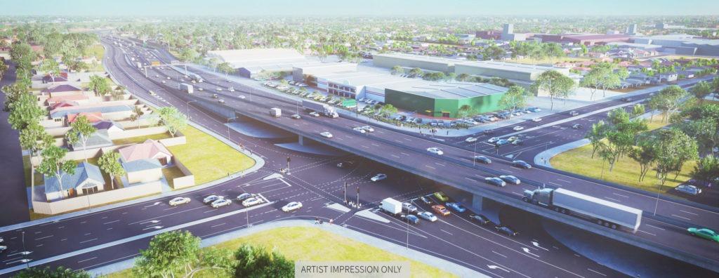 regency road to pym street upgrade artist impression