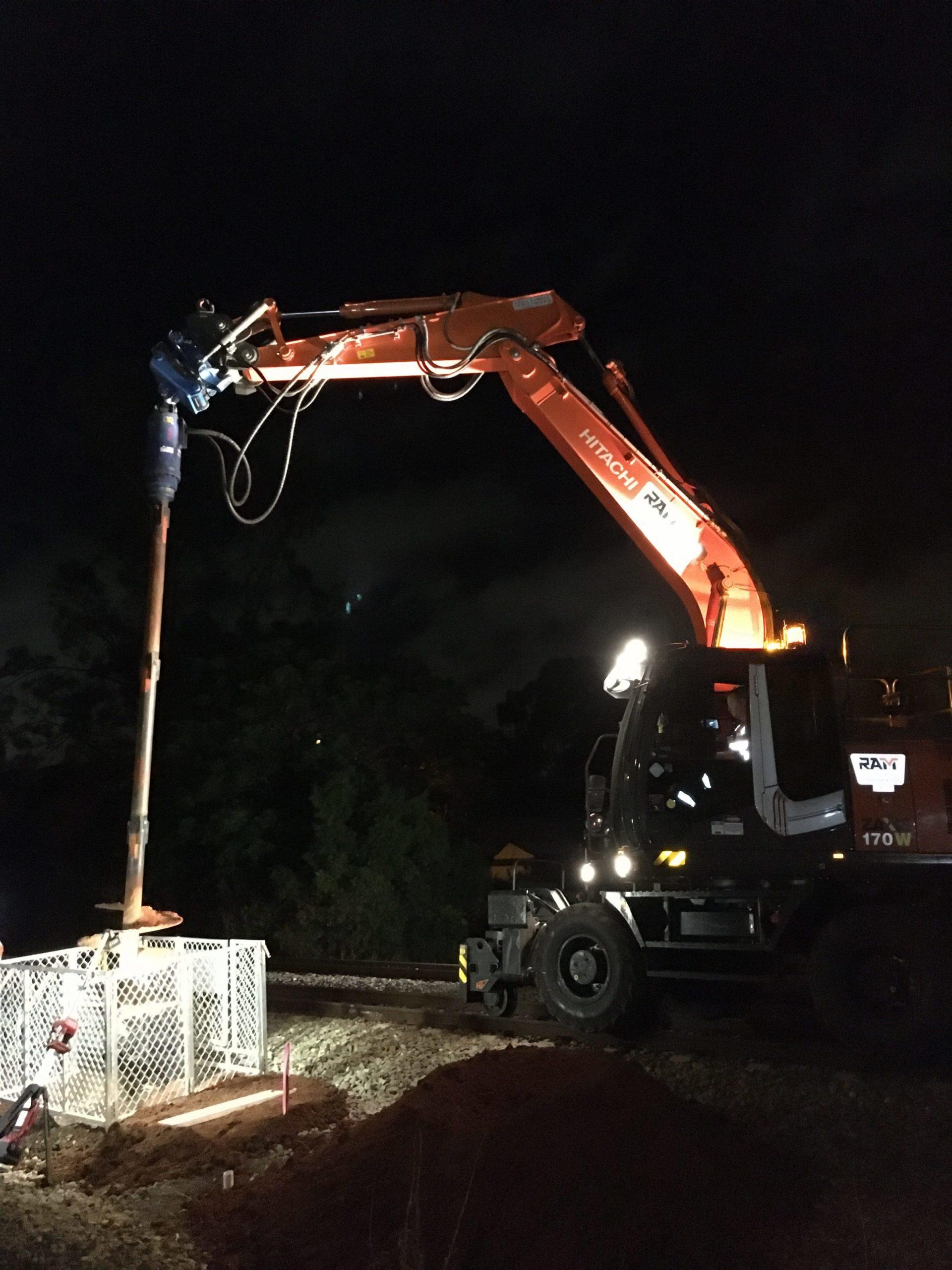 RAM Gawler Line Hi-Rail Excavator